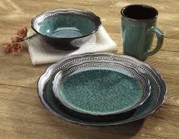 16 stoneware dinnerware green walmart