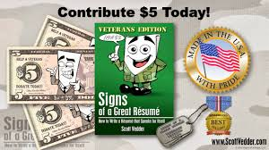 veteran resume help signs of a great resume author scott vedder a blog that s full contribute today jpg