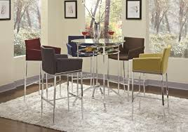 modern bar tables and chairs white pub table lance bar height pub
