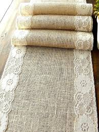 table runner rentals burlap linen rentals burlap and lace table runners canada lace