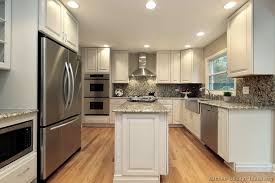 narrow kitchen with island pictures of kitchens traditional white kitchen cabinets