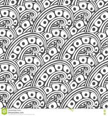 vector pattern with abstract ornament coloring book page