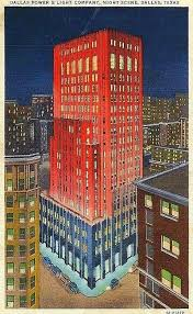 texas power and light company dallas power light building night and day flashback dallas