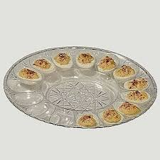 deviled egg tray with cover vintage anchor hocking milk glass with gold trim