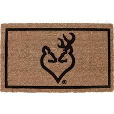 Outdoor Coir Doormats Delectably Yours Com Browning Buckheart Outdoor Coir Doormat