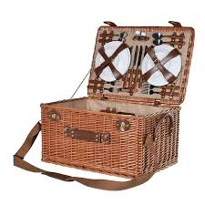 picnic basket for 4 large wicker picnic basket 4 servings mulberry moon