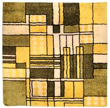 Modern Yellow Rug by Vintage Modernist Rug Bb4475 By Doris Leslie Blau