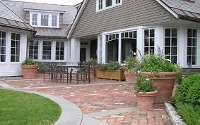 Patio Designs With Concrete Pavers Brick Patio Design Patterns With Concrete Pavers Border And