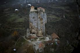 this house on top of a rock mass 40m high in katskhi georgia
