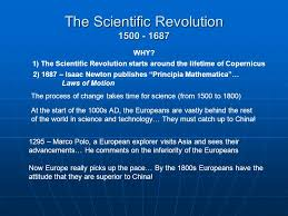 the scientific revolution questions to be answered 1 why did