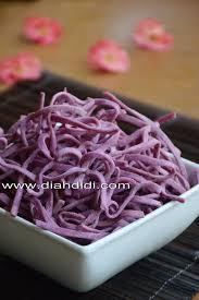membuat mie warna ungu diah didi s kitchen stick ubi ungu renyah