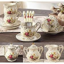 Coffee Set white classic rooster patterns 11 tea set