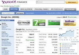 Yahoo Finance How To Read A Stock Quote Todayforward
