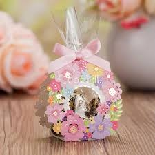 wedding candy favors aliexpress buy 50pcs hollow flower garden wedding candy box
