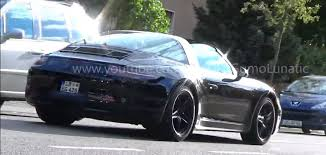 porsche targa 2016 2016 porsche 911 targa spied with different exhaust autoevolution