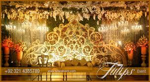 tulips event best pakistani wedding stage decoration flowering