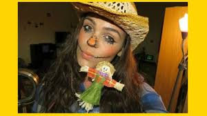 scarecrow halloween makeup scarecrow halloween makeup last minute halloween makeup youtube