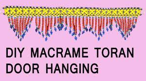 Pink Hanging Door Beads by Diy How To Make Macrame Toran Door Hanging Full Tutorial Easy