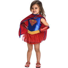 Toddler Superman Halloween Costume Dc Comics Supergirl Classic Toddler Halloween Costume Walmart