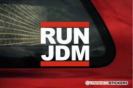 jdm car stickers run jdm jap japanese car sticker decal run dmc