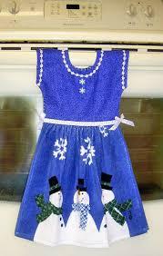kitchen towel craft ideas dress kitchen towel scarved snowmen blue dteam craft