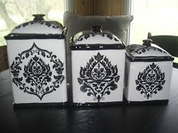 ebay kitchen canisters 222 fifth 3 pc canister set black white ebay for the kitchen