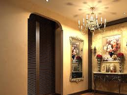 hall painting home hall with wall painting and mirror 3d model