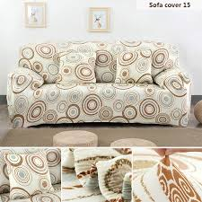 Printed Sofa Slipcovers Simple Design Tight Wrap Four Seat Sofa Cover Polyester Elasticity
