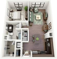 design floor plan 50 one 1 bedroom apartment house plans architecture design