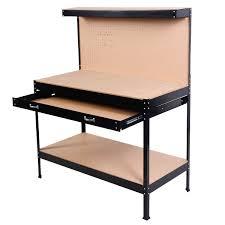 steel frame work bench tool storage tool workshop table w drawer