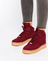 Most Comfortable Air Force Boots Nike Air Force 1 07 Suede Red Trainers Fit For Fashion