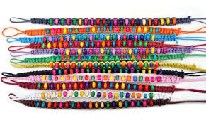 braided bracelet with bead images 120pcs 12colors wholesale lots beads braid handmade fashion jpg