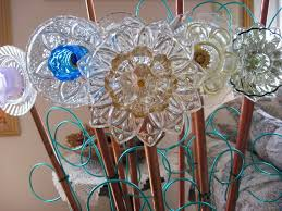 plate flowers for the garden sale garden art upcycled recycled