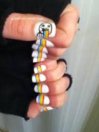 Nail Art Meme - rainbow vomit meme nail art by allthenails weebly com all the