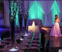 lighted centerpieces for wedding reception this wedding reception table features a farm table with birch branch
