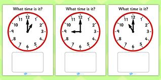 all worksheets half past hour worksheets free printable