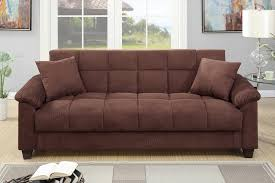 Plush Sofa Bed Chocolate Plush Microfiber Futon Sofa Storage Bed