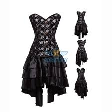 wholesale burlesque cosplay pirate costume steel boned waist