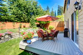 Beautiful Decks And Patios by Beautiful Landscape Design For Backyard Garden And Patio Area