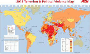 Siberia On World Map by Aon S 2013 Terrorism U0026 Politicial Violence Map