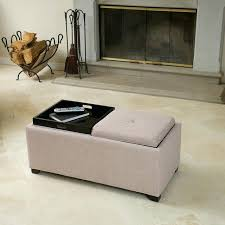 Black Leather Storage Ottoman Ottoman With Tray And Storage Canada Square Ottoman Tray Mirrored