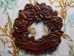 clearance sale wreath rustic i you wreath wood roses