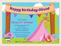 camping birthday invitations u2013 gangcraft net