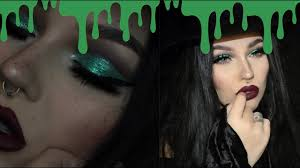 glam bad witch halloween makeup tutorial youtube
