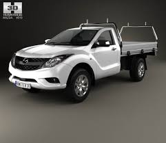 mazda 2016 models mazda bt 50 single cab alloy tray 2016 3d model hum3d