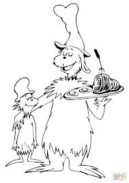 cat hat coloring sheet dr suess pages glum