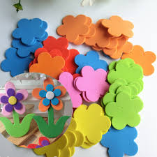 70pcs baby kids room flower foam removable diy quote decal mural