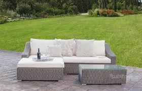 divano giardino divano con chaise longue in rattan sintetico uniko giardino e