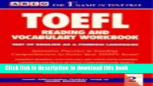 read book arco toefl reading and vocabulary workbook toefl