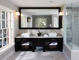 Framed Bathroom Vanity Mirrors by Minimalist Rectangle Black Framed Bathroom Vanity Mirror In A